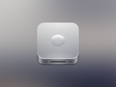 Another icon app icon shiny aluminum ios silver perspective