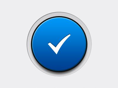 Big Check Button button check icon ui big chunky ios iphone joypad
