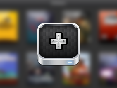 What could this be? joypad icon ipad app metal aluminum retina gaming ios