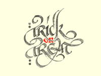 Calligraphy — Trick or Treat