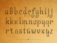 Calligraphic Font Ductus — Straight