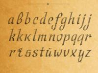 Calligraphic Font Ductus — Italic