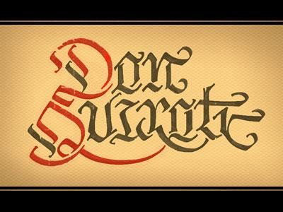 P0022 calligraphy don quixote