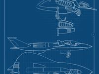 F-19 Blueprint illustration sketch blueprint pencil blender 3d blender unity 3d unity game development game design 3d model flight simulator f-117 f-19