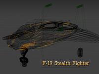 F-19 3D model in Blender unity 3d unity sketch pencil illustration game development game design flight simulator f-19 f-117 blueprint blender 3d blender 3d model