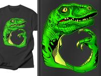 Philosoraptor mug design sticker notebook t-shirt design pencil ink woodcut engraving dragon reptile lizard dinosaur philosoraptor