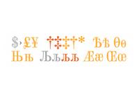 Typeface Dodo — rare letters