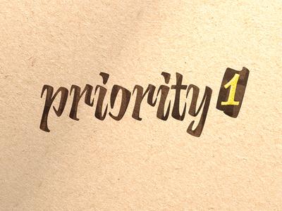 Calligraphic Logo «Priority 1»