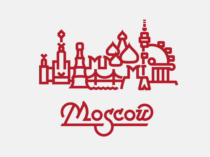 Moscow city logo vector graphics lettering font