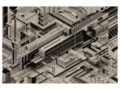 improvisation #01 black and white digital graphic blender illustration design art abstract 3d