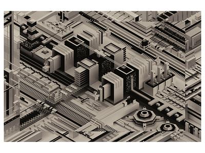 improvisation #03 black and white digital graphic blender illustration design art abstract 3d