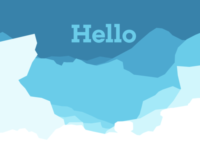 Hello from the Bottom of Sea flat sea iceberg parallax scrolling testing
