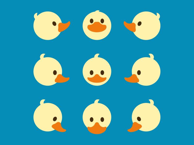 Quack-tastic animal illustration duck minimal avatar flat