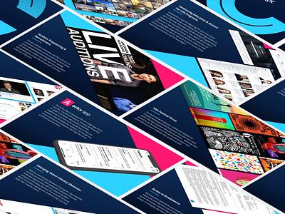 Casting Workbook Education Plan presentation deck presentation design graphicdesign pitchdeck