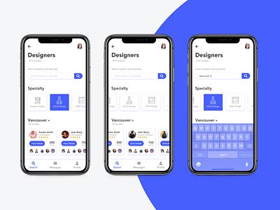 Find a freelancer app material design search accessibility ux design ui design