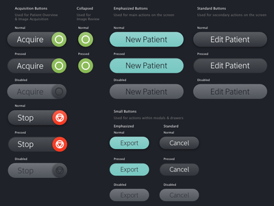 Chrome Style Guide Buttons visual design ui software medical style guide chrome forms buttons