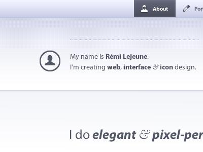 Portfolio - about grey blue interface portfolio menu icon icons