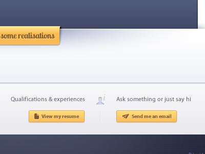 Portfolio - infos portfolio smooth icon grey blue yellow button contrast icons