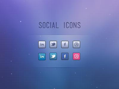 Social Icons Set icons social clean