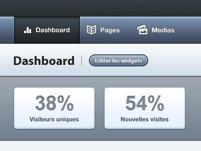 Dashboard cms menu dashboard icons blue stats button