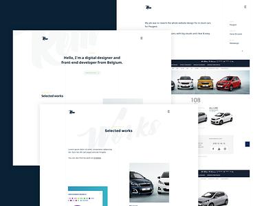 Playing with minimalism identity webdesigner portfolio low contrast subtl white minimalist clean design typography webdesign uidesign