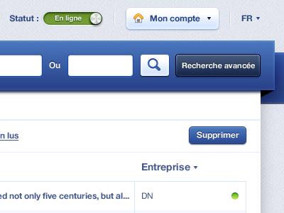 Nav header button search blue webapp