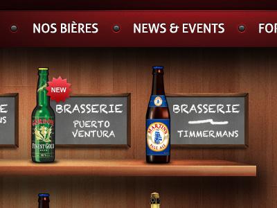 Beer shelves beer shelves wood red menu ui blackboard bottle shadows