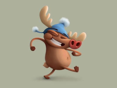Deer visdev fun animals characterdesign cartoon 2d illustration character