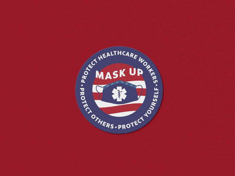 Mask Up Initiative icon branding logo design