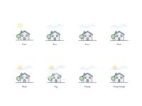 Super secret weather app icons