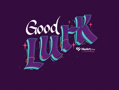 Good Lurk colorfull caligraphy letters lettering twitch.tv