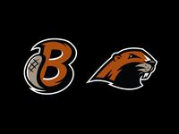 Go Beavers! vector design illustration logo animal sports cartoon mascot letter beaver