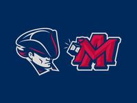 PATRIOT design illustration logo sports cartoon mascot massachusetts lantern patriot