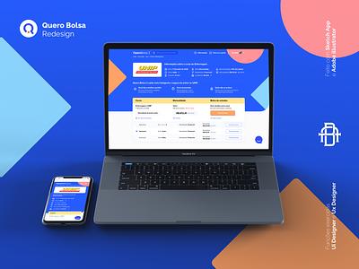 Quero Bolsa - Proposta Redesign mobile icon educational edtech educação redesign web education ios design ux ui app