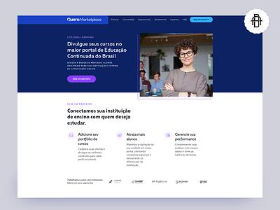 Quero Marketplace - Landing page branding uidesign design product designer education educação quero marketing uiux ui landing page marketplace