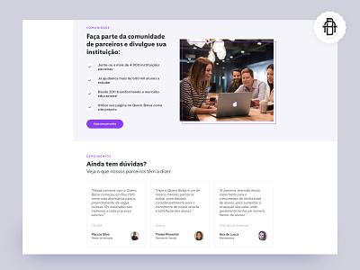 Quero Marketplace - Comunidade education website quero bolsa education educação marca brand product logo icon design ux app ui