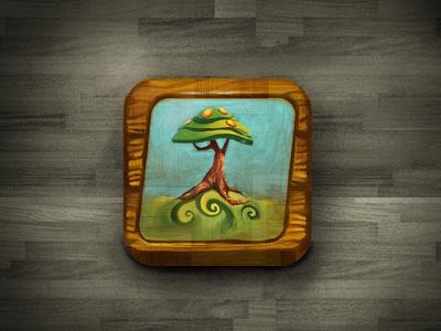 Kiddie daniel levanon icon ui ipad iphone tree wood kids app
