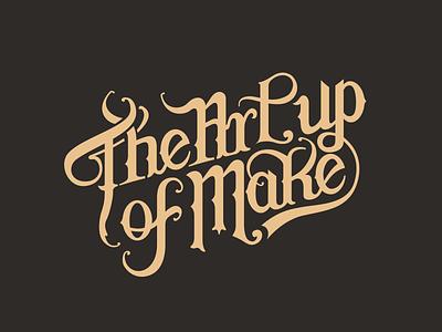 The Art of Makeup lettering branding logo
