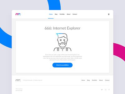 Error 666: IE error error page personal project ui