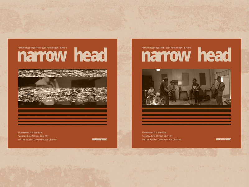 Narrow Head Live Stream social digital drawing typography art direction digital design graphic design