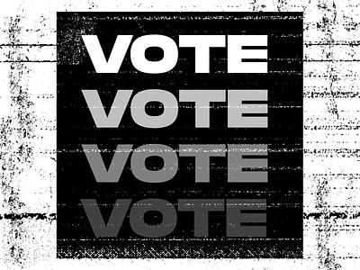 Vote design art direction digital design graphic design vote
