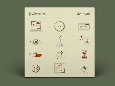 Jawbreaker Dear You album cover jawbreaker music stipple digital drawing art direction digital design graphic design