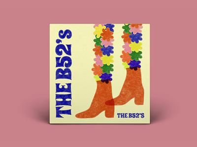 The B-52's, The B-52's album cover art album cover design album cover illustration digital drawing typography art direction digital design graphic design