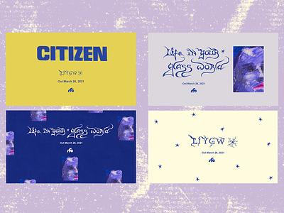 Citizen Layouts typography design art direction digital design graphic design
