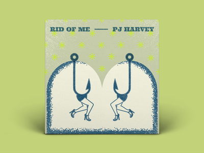 PJ Harvey | Rid Of Me album cover rid of me pj harvey album art typography illustration art direction digital design graphic design