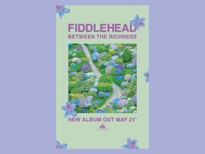 Fiddlehead Promo Poster flowers band poster promo poster art direction digital design graphic design