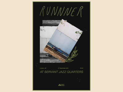 Runnner UK Show Poster ALT illustration design typography poster design collage show poster art direction digital design graphic design