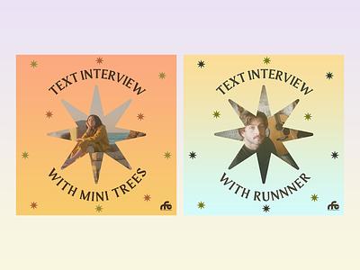 Text Interview Series social media social media template stars gradient layering typography art direction digital design graphic design