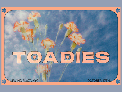 Toadies coral flowers sky typography toadies design poster design show poster art direction digital design graphic design