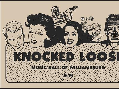 Knocked Loose design poster design collage typography show poster art direction digital design graphic design
